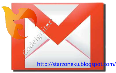 sending email at codeigniter using gmail account