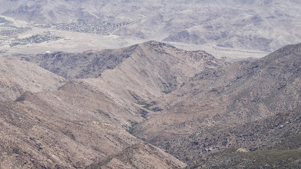 The desert, as seen from near Apache Peak