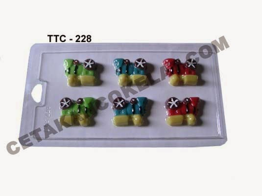 Cetakan Coklat TTC228 Kereta Api Lokomotif