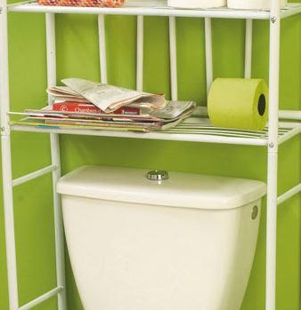 Espacio vertical en el cuarto de baño.