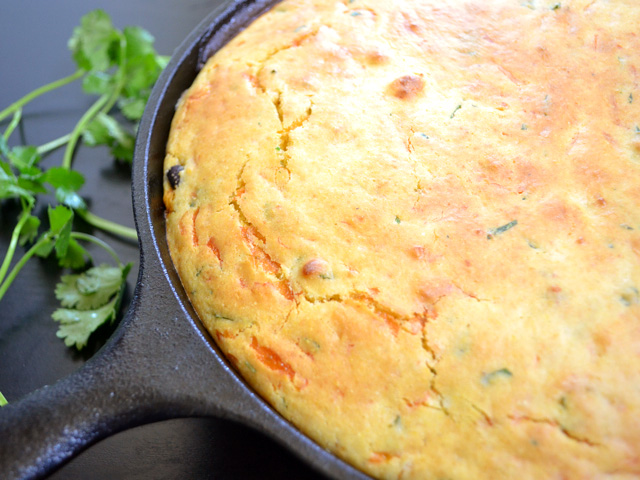 Vegetable Tamale Pie in skillet