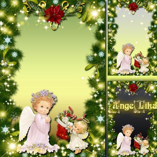 Праздничная рамка для фото - Светлое Рождество