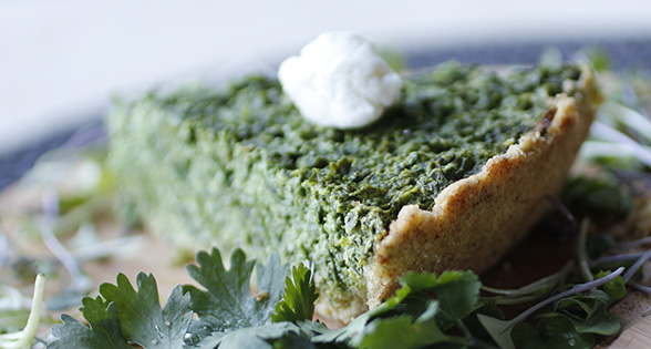 Homemade Horto-merothikopita Pie Recipe (Greek-style green & herb pie)