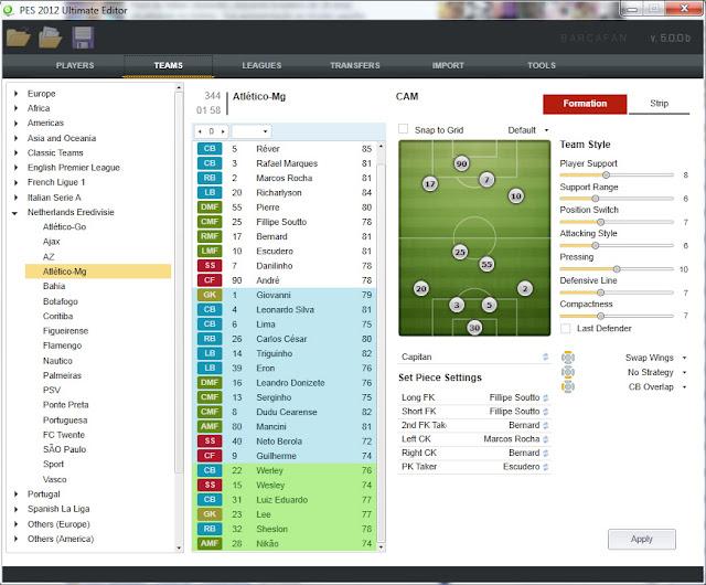 Ultimate Editor 5.00 b2 - PES 2012