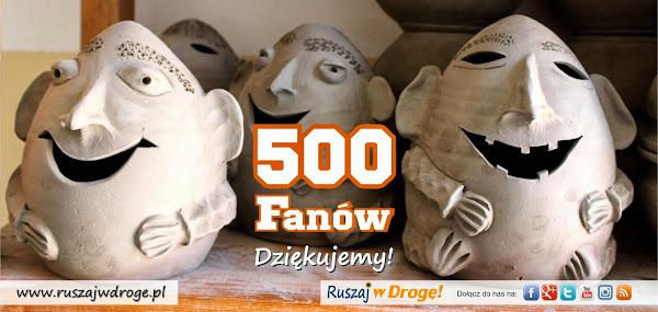 500 fanów Ruszaj w Drogę na Facebooku
