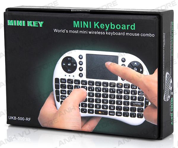Mini Keyboard UKB-500-RF - Bàn phím kiêm chuột không dây dùng cho Android TV Box, Smart TV 06