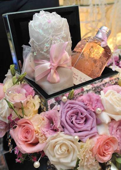 gubahan hantaran set mandian perfume irma hasmie bertunang