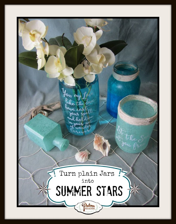Faux Sea Glass & Ideas for Summer Centrepieces