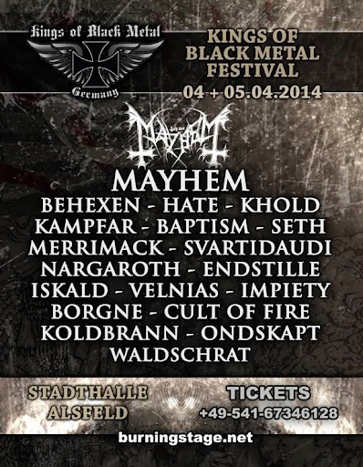 Kings of Black Metal Festival 2014 @ Allemagne 04 & 05/04/2014