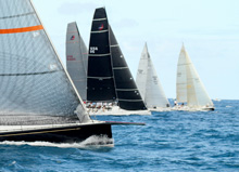 J/120 Rebecca leading IRC start on Lauderdale Key West Race