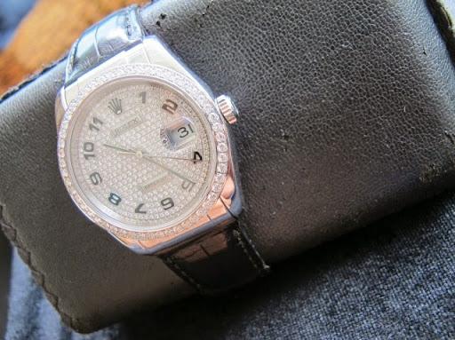Bán đồng hồ rolex datejust – model 116139 – vàng trắng hạt xoàn – size 36mm – Automatic 3135