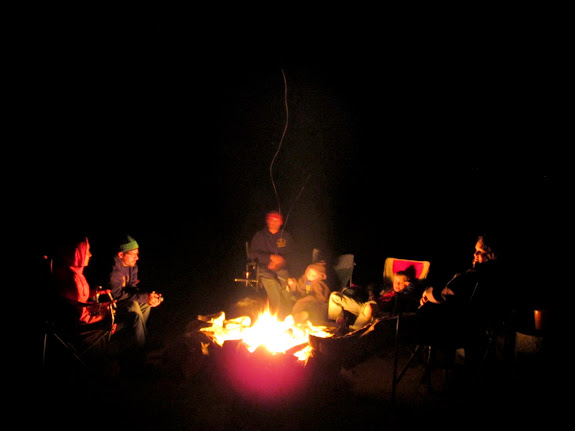 Around the campfire on Thursday night