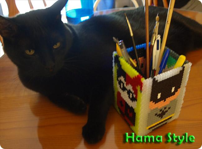 Trabajos 3D Hama Style Lapicero_batman_hama