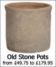 Large Old Stone Garden Pots
