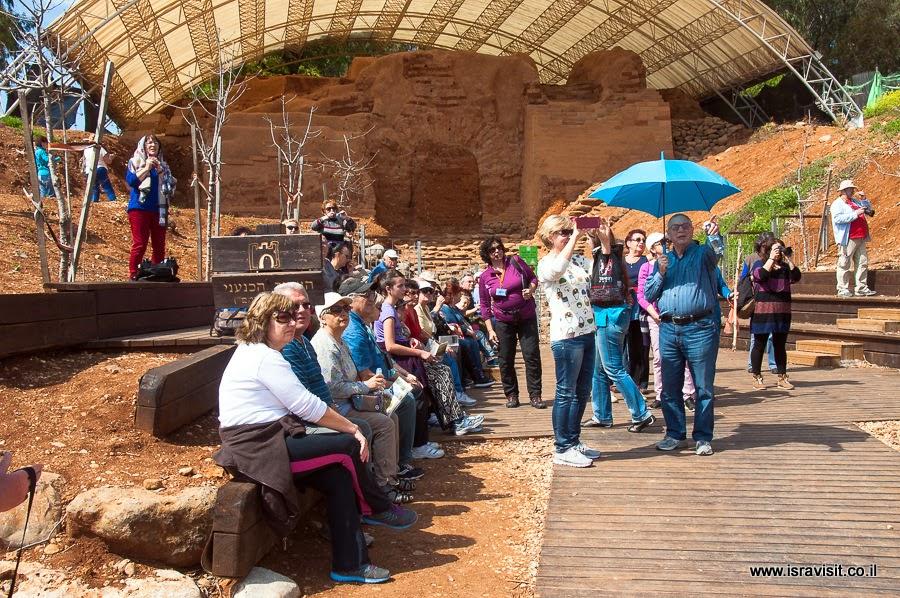Археологические раскопки в Тель Дан. Экскурсия в Верхней Галилее.