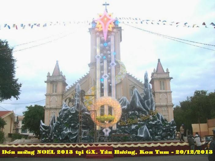nhà thờ tân hương Giáng Sinh 2013