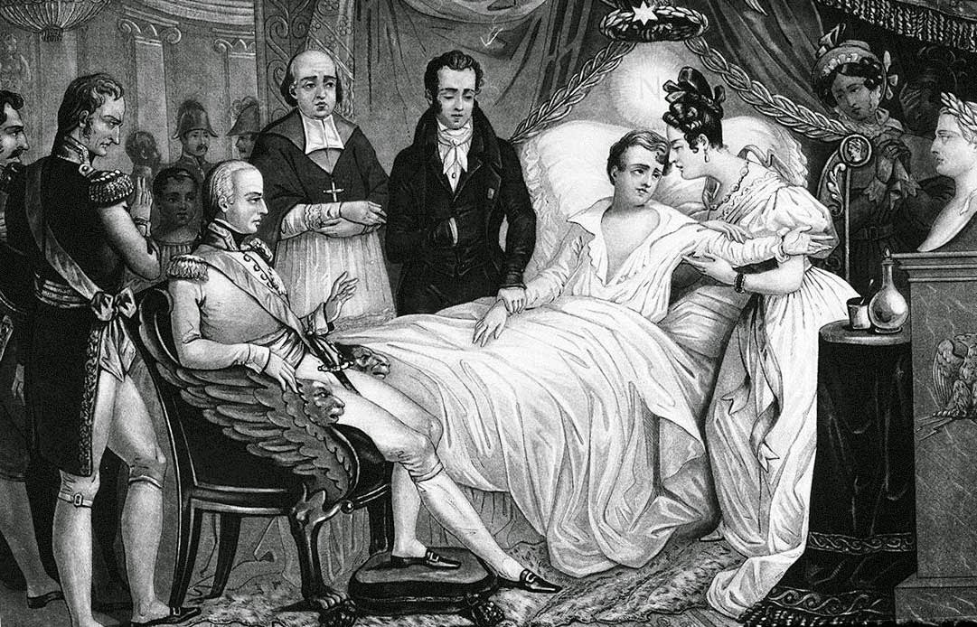 У смертного одра Наполеона