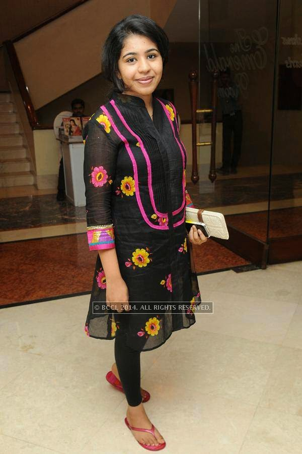 Niharika during a lifestyle exhibition, in Hyderabad.<br />