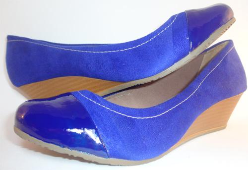 Customização de sapato cap toe com esmalte
