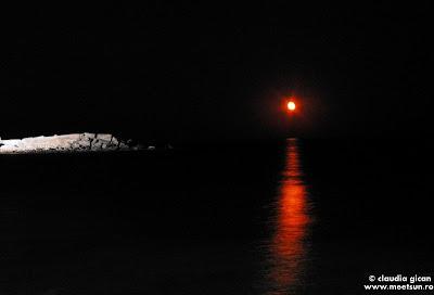 rasarit de luna peste mare la 2 Mai