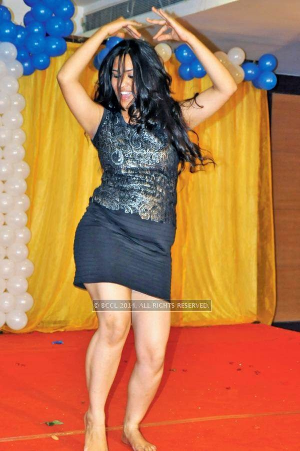 Shalini dances during a cartoon-themed party organised by Modern Dental College and Research Centre, in Indore.