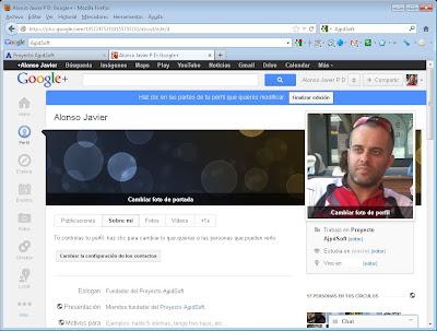 Alta de perfil de Google+