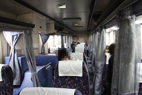 名鉄バス「名古屋~松山線」 2701 車内