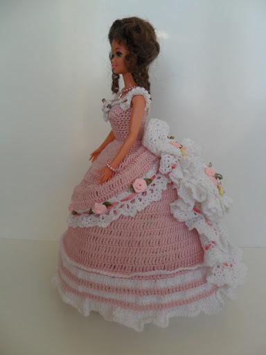 SAM 4184 - فساتين للعروسة باربي من الكروشية طريقة عمل ملابس لعرائس الاطفال بالكروشية
