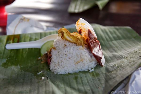 nasi lemak daun pisang