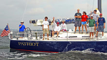 American YC youth sailing team- on J/122 PATRIOT