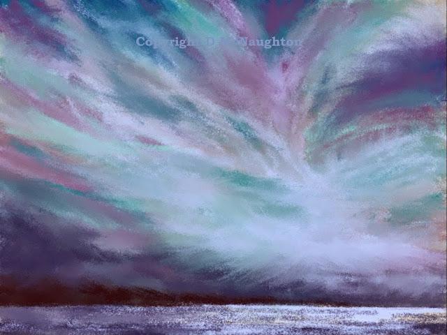Sea & Sky Series #9. ipad. Artist Dianne McNaughton