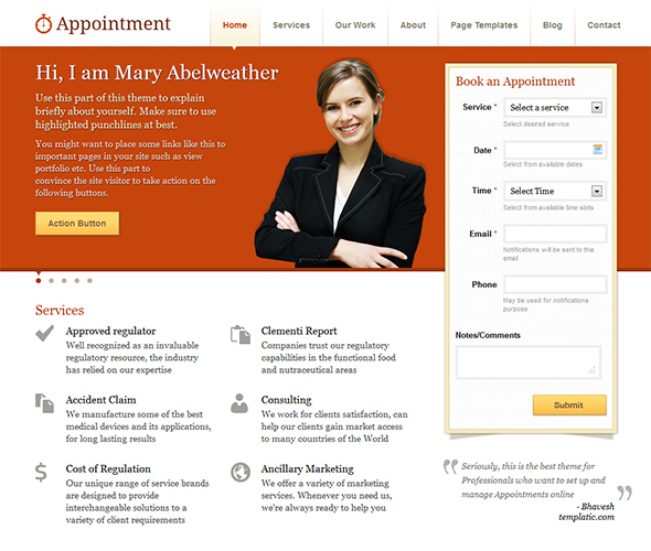 Appointment Business Theme