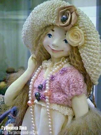 Губкина Яна, выставка авторских кукол ателье чудес - лицо