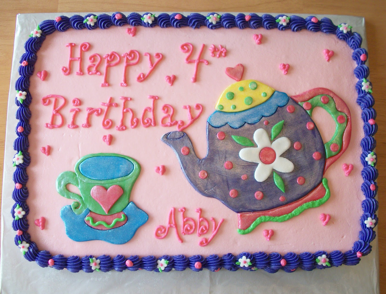 Bellissimo Specialty Cakes Quot Tea Party Birthday Cake Quot 3 11