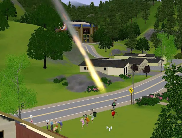 Sim a punto de ser impactada por un meteorito