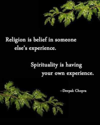 Prompt Religion Vs Spirituality
