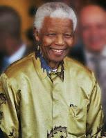 Porträt Nelson Mandela.