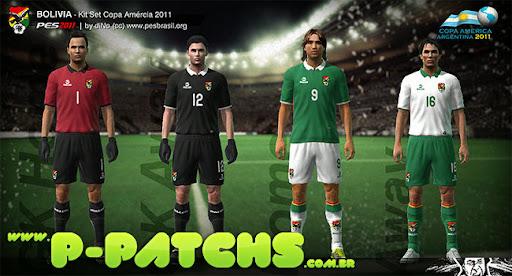 Bolívia Kitset - Copa América 2011 para PES 2011 PES 2011 download P-Patchs