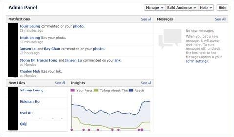 Facebook Timeline Admin Panel