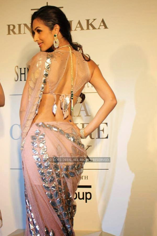 Malaika Arora Khan poses during the India Couture Week, 2014, held at Taj Palace, in New Delhi.