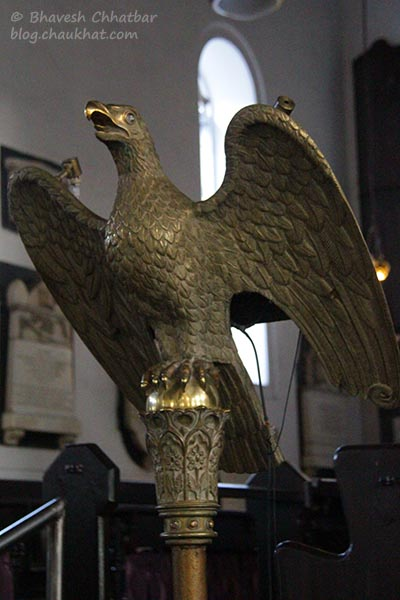 Eagle lectern of Saint Mary's Church, Pune