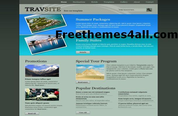 Free Abstract Travel CSS Website Template