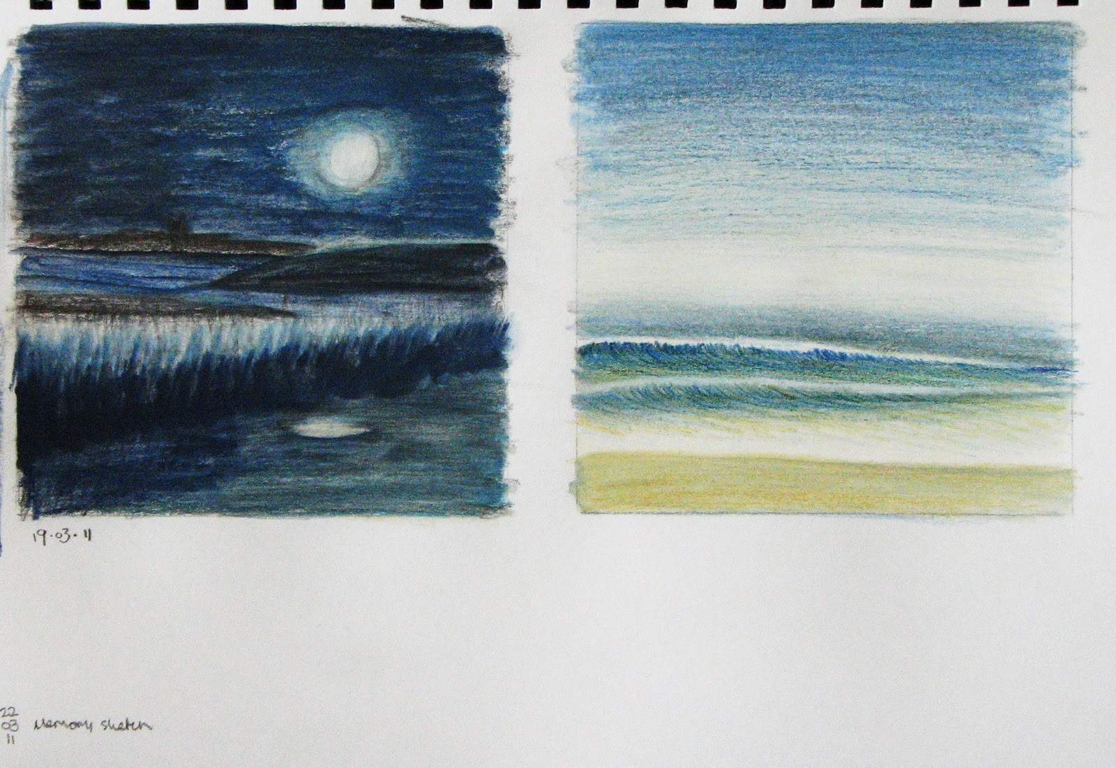 Lisa Le Quelenec Seaside Studios Paintings, Prints And Mixed Media: Sketchbook Ideas And Colour