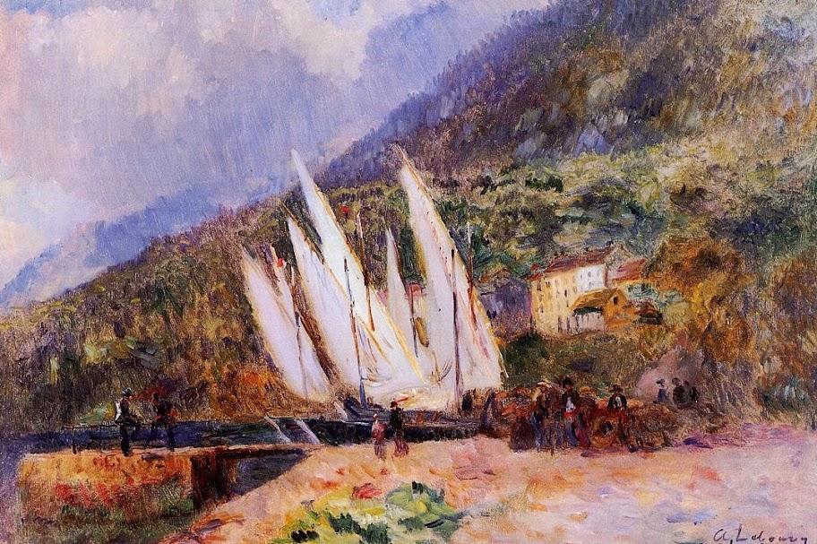 Albert Lebourg - Boats Docked at Saint-Gingolph