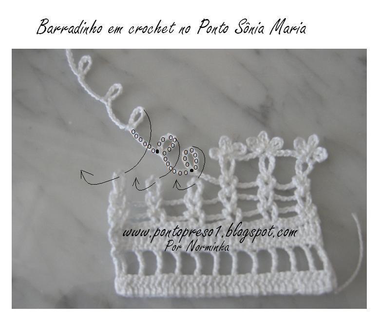 Ponto de Crochê Sônia Maria