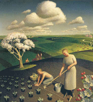 1941, Grant Wood, Le printemps à la campagne
