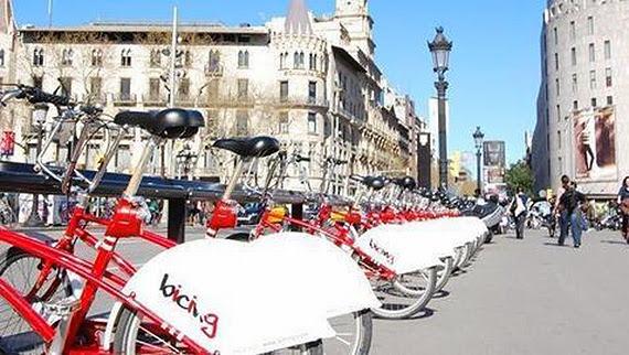 Barcelona cuenta con un servicio público de alquiler de bicicletas