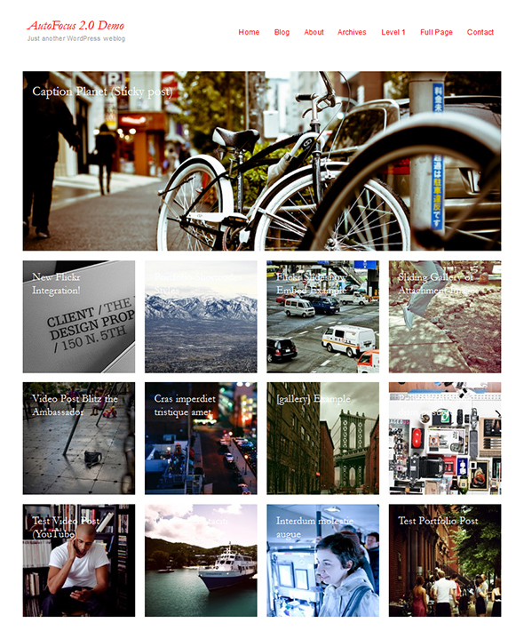 Autofocus Portfolio Theme for Photographers