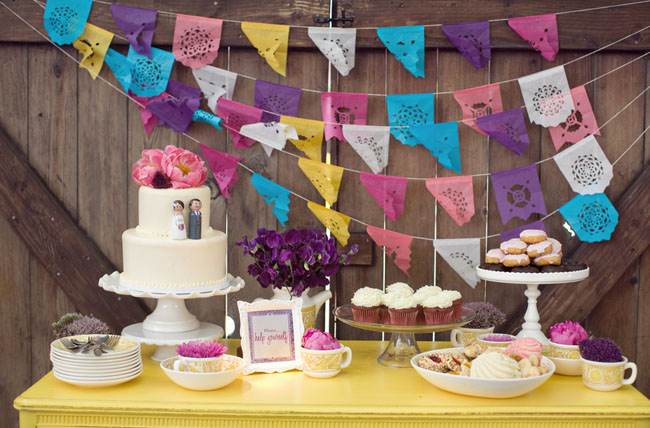 Fiesta Wedding Dessert table