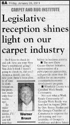 Legislative Reception Shines Light on Carpet Industry by Werner Braun